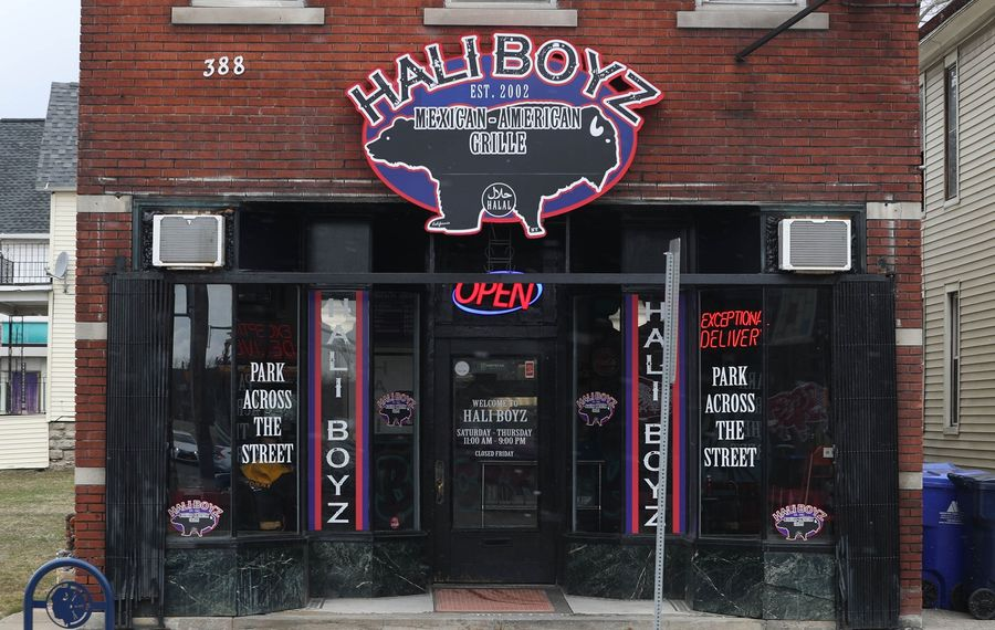 Hali Boyz Mexican-American Grille is at 388 Amherst St. at the corner of Grant Street. (Sharon Cantillon/Buffalo News)