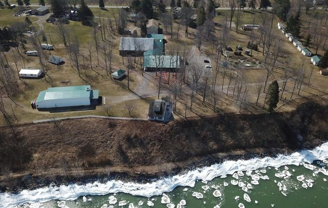 The Niagara Shores Campground, formerly known as Niagara Bible Conference retreat center, is being converted into an all-inclusive resort on the shore of Lake Ontario by Ernie Ramstetter and David Muscoreil. (John Hickey/Buffalo News)
