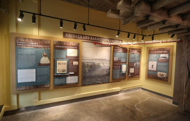 A display at the Niagara Falls Underground Railroad Heritage Center. (John Hickey/News file photo)