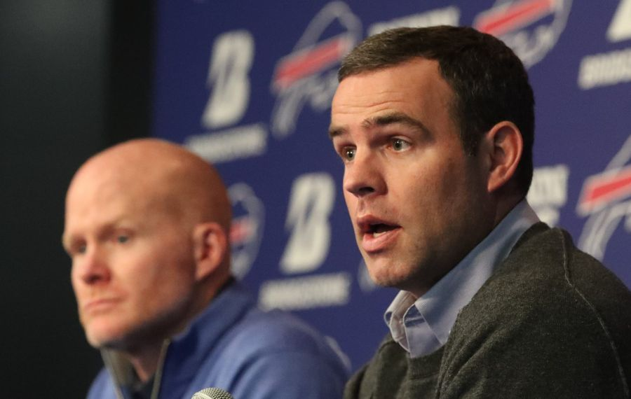 All eyes will be on Bills General Manager Brandon Beane when the NFL Draft gets underway on Thursday. (James P. McCoy/Buffalo News)