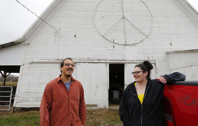 Chris and Paula Jeanniton at their farm in Collins.   (Mark Mulville/Buffalo News)