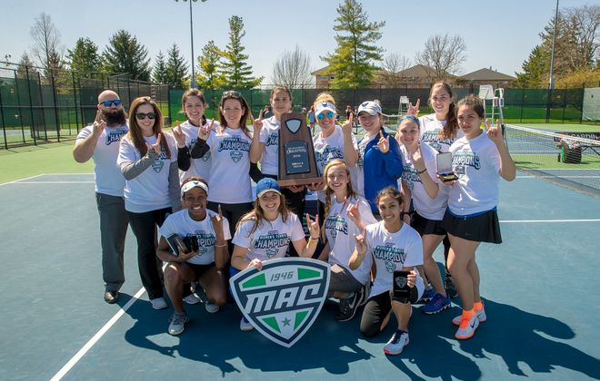 The University at Buffalo women's tennis team won its second straight Mid-American Conference title this weekend. (Photo courtesy of UB Athletics)