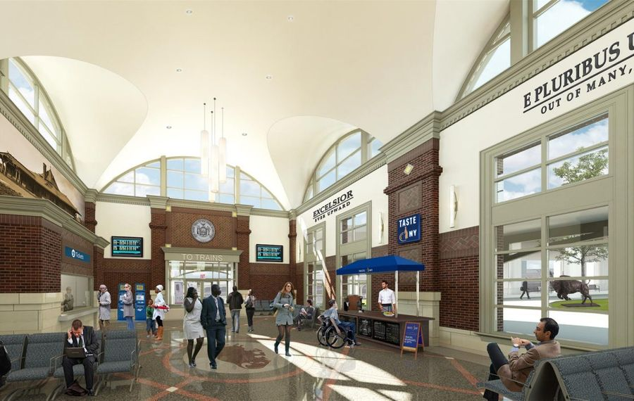 A rendering of the proposed station coming to Exchange Street in late-2020.