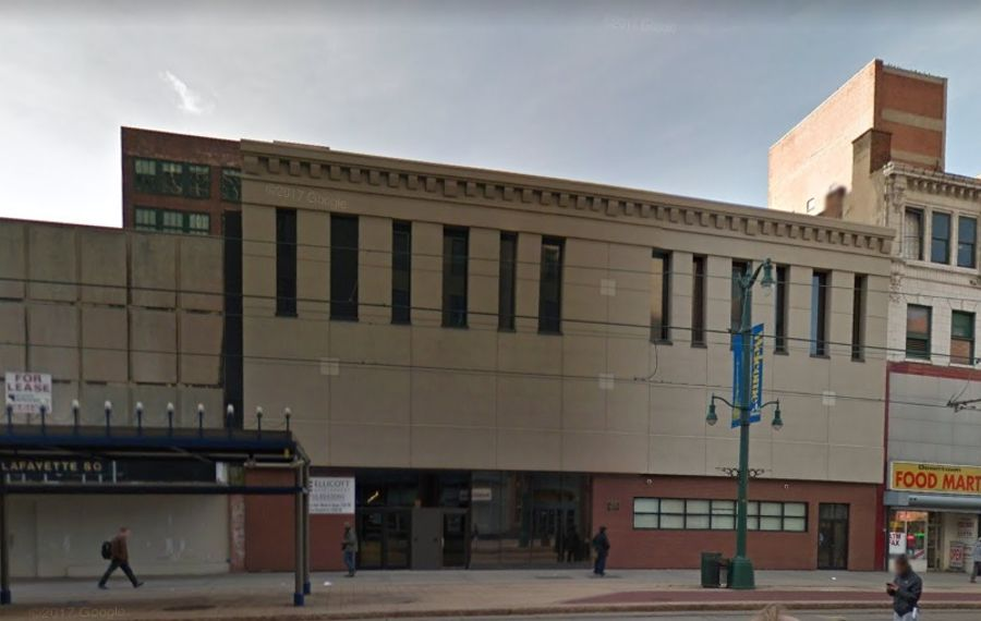 The former Baker Shoes building at 456 Main St. is being redeveloped as part of the New York Main Street grant program.