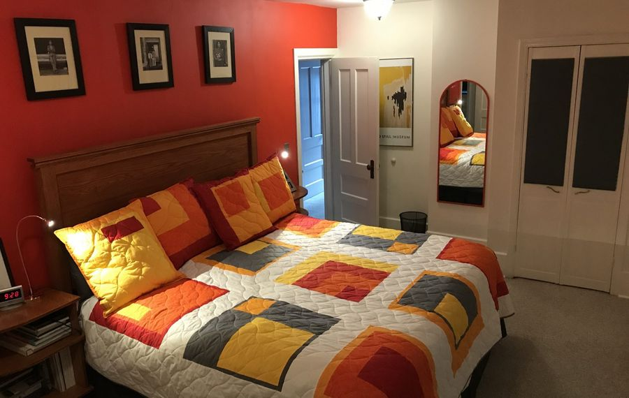 The Charliers recently redecorated their bedroom. (Photo courtesy Jim Charlier)