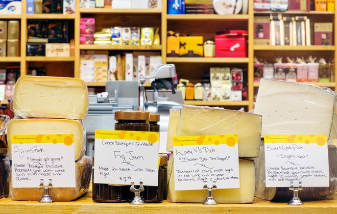 Sample to your heart's delight at The Cheese Boutique in Toronto.