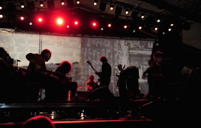 Godspeed You! Black Emperor is headed to Asbury Hall. (Getty Images)