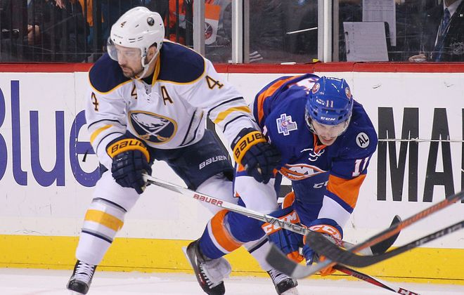 Josh Gorges likely played his final game with the Sabres Saturday. But was it his final game in the NHL? (Getty Images file photo).