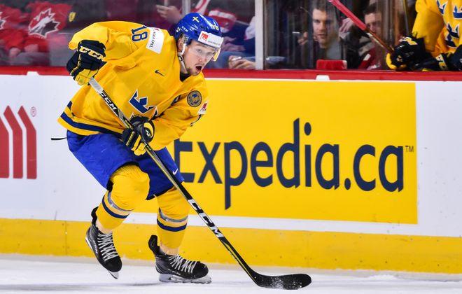 Rasmus Asplund represented Sweden in the 2017 world juniors. (Getty Images)