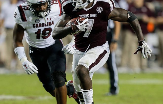 Texas A&M running back Keith Ford has reportedly received an invitation to Bills rookie minicamp ((Bob Levey/Getty Images)