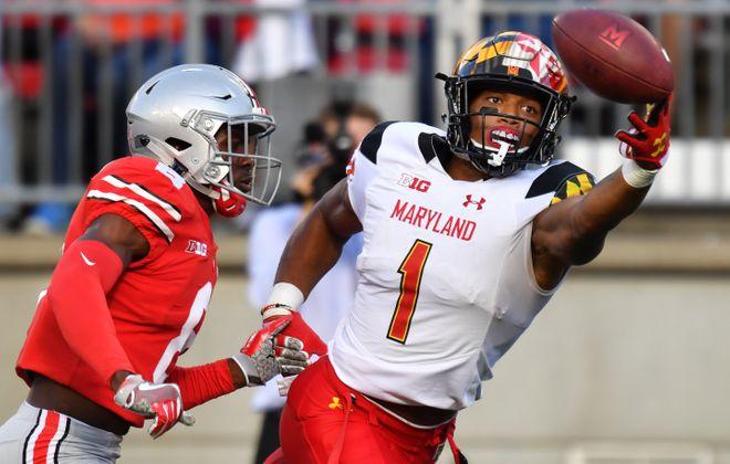D.J. Moore of the Maryland Terrapins  (Jamie Sabau/Getty Images)