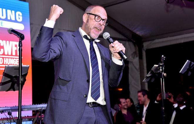 Alton Brown, pictured speaking at a Food Network festival in New York City, had harsh words for a staple Buffalo food.  (Theo Wargo/Getty Images)