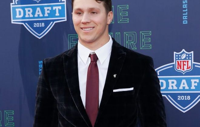 Quarterback Josh Allen on the red carpet prior to the start of the 2018 NFL Draft at AT&T Stadium on April 26, 2018, in Arlington, Texas. (Getty Images)