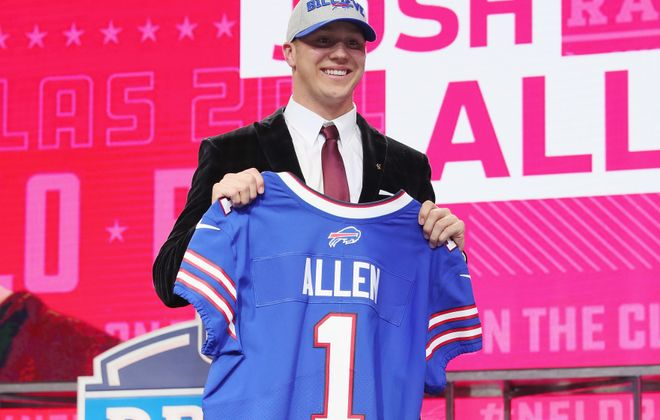 The Bills selected Josh Allen with the seventh overall pick in the 2018 draft. (Getty Images)