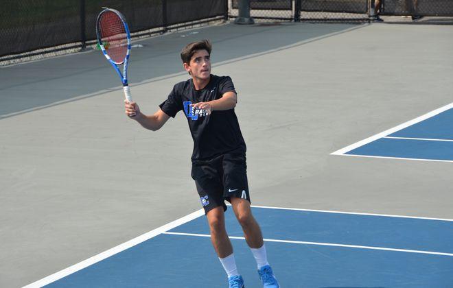 Ricardo Ruiz Martinez set the Daemen men's tennis record for singles victories in a season this week. (Photo courtesy of Daemen Athletics)