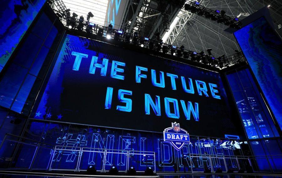 A view of the NFL Draft theater prior to the start of the first round of the 2018 NFL Draft at AT&T Stadium on April 26, 2018, in Arlington, Texas. (Tom Pennington/Getty Images)