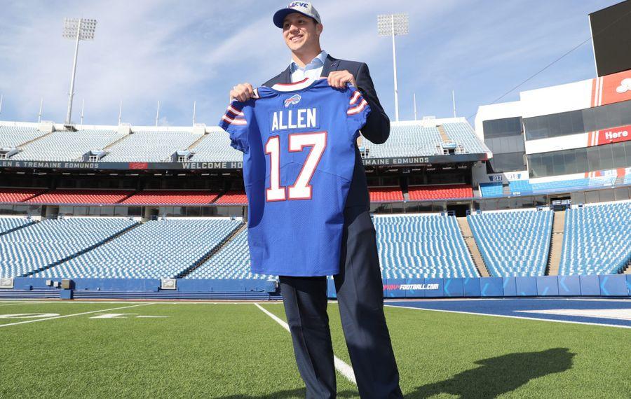 New Bills quarterback Josh Allen will get an opportunity to win the starting job, according to GM Brandon Beane. (James P. McCoy/Buffalo News)