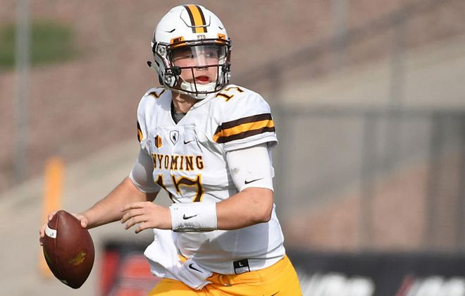 """He's got the ability to do all the things throwing the football that anybody does,"" said Brent Vigen, one of Josh Allen's coaches at Wyoming. (Getty Images)"