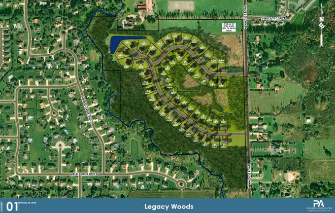 Equestrian community of 51 homes, Legacy Woods, seeks public hearing