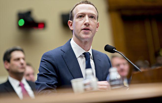 Facebook's Mark Zuckerberg speaks Wednesday during a House hearing. (Bloomberg photo by Andrew Harrer)