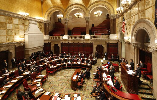 The State Senate chambers in Albany. (Derek Gee/News file photo)