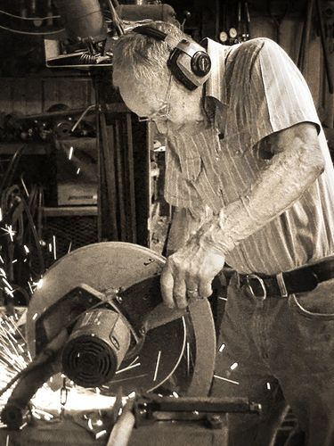 Norman Witte in his shop. (Family photo)