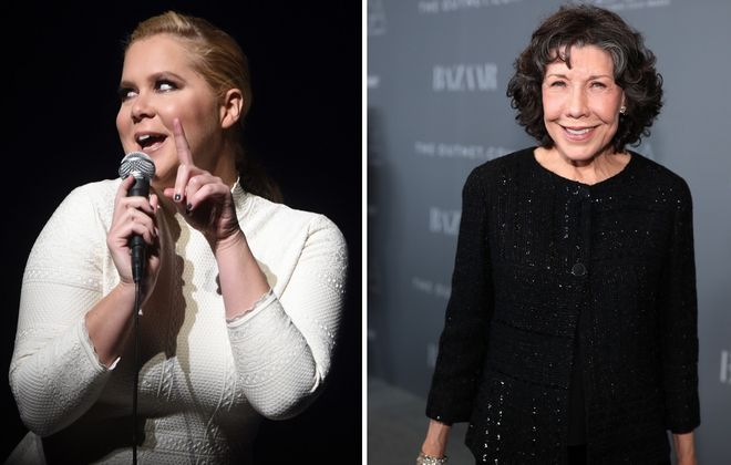 Comedians Amy Schumer, left, and Lily Tomlin are the major guests coming to the opening of the National Comedy Center. (Getty Images)