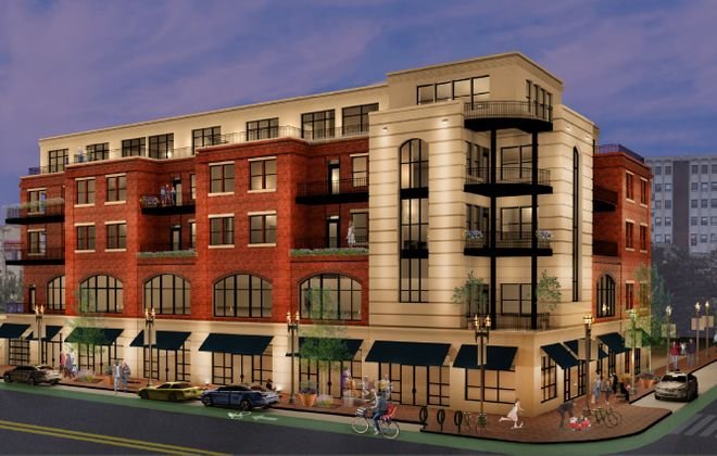 The revised Elmwood Crossing project, with five floors, was approved by the Buffalo Planning Board.