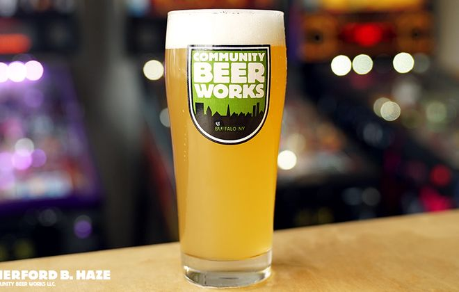 Rutherford B. Haze is a new Belgian-style pale wheat ale from Community Beer Works. (Photo courtesy Community Beer Works)
