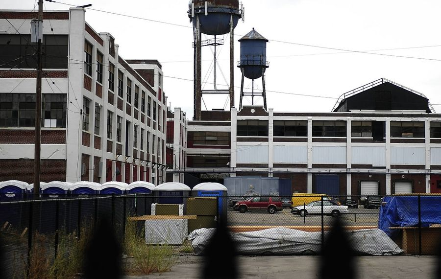 Harrison Place, the former Harrison radiator plant in downtown Lockport, is home to several businesses. (Buffalo News file photo)