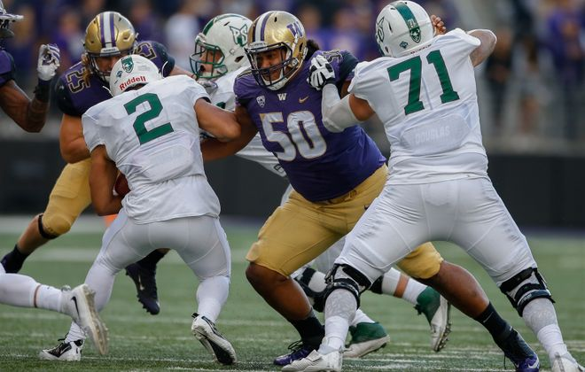Jay Skurski's latest mock draft has the Miami Dolphins taking DT Vita Vea of Washington. (Getty Images)