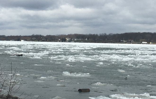 Fishing conditions changed in a blink this morning when the ice boom gave way.