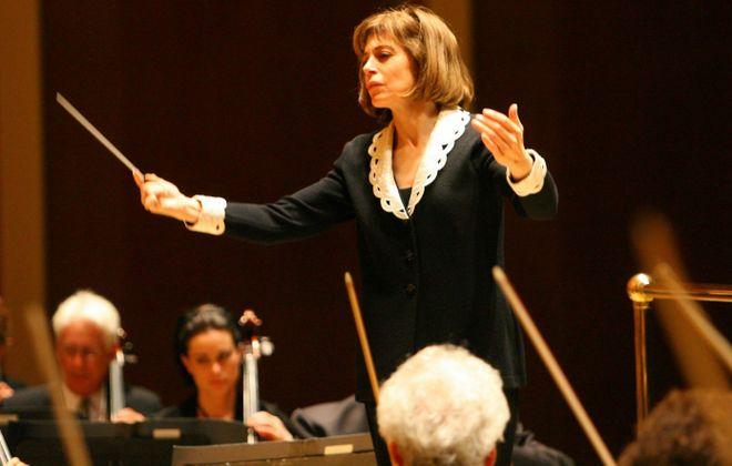 JoAnn Falletta leads the Buffalo Philharmonic Orchestra at Kleinhans Music Hall. (News file photo)