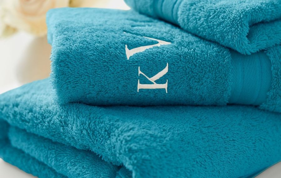 Grad gift idea: Monogrammed towels for the college-bound student.  (Photo courtesy Lands' End)