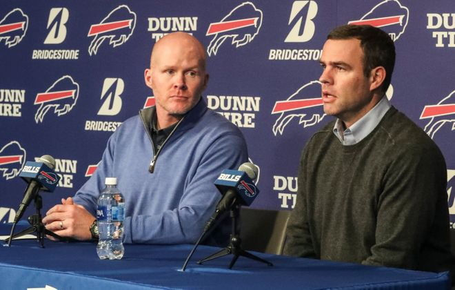 Bills coach Sean McDermott and General Manager Brandon Beane will hold their season-ending news conference Tuesday. (James P. McCoy/News file photo)