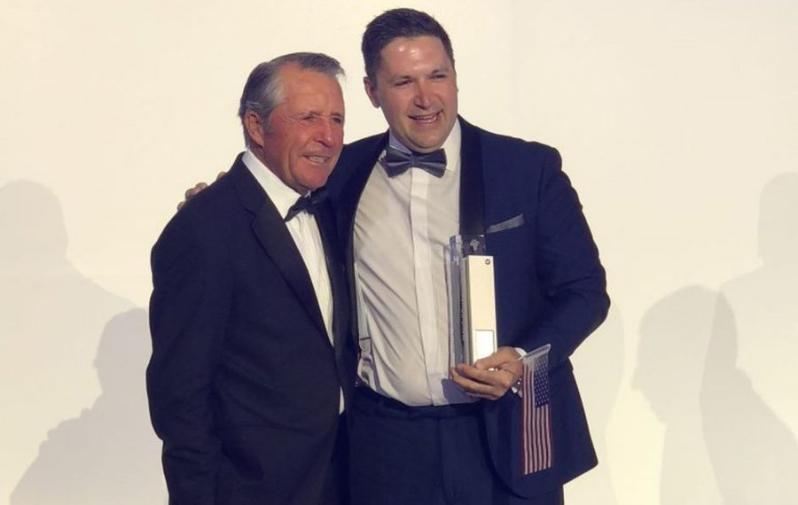 Sean Lindstrom with golf legend Gary Player. (Photo courtesy of Sean Lindstrom)