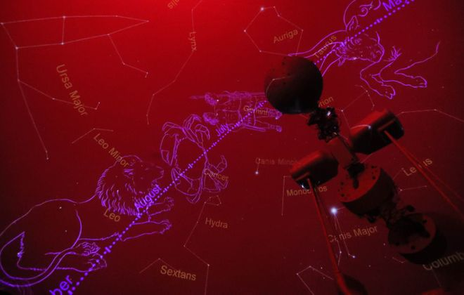 Throughout the school year, the Williamsville Space Lab Planetarium plays host to a monthly sky tour and planetarium show open to the public, and also an entertainment laser show designed to dazzle. (Sharon Cantillon/Buffalo News)
