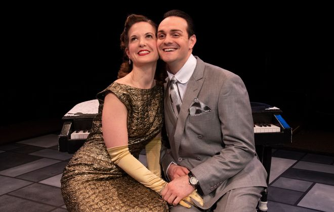 "Diane Curley and Adriano Gatto are featured in the Irish Classical Theatre Company's production of ""The Awful Truth."""