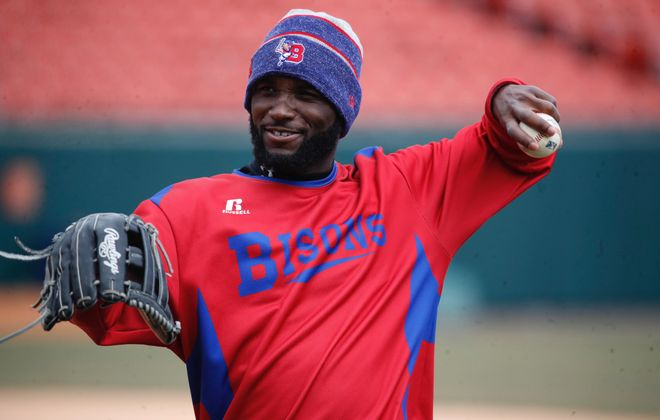 Roemon Fields' 70 stolen bases with the Bisons are second on the club's modern era to current Dodgers manager Dave Roberts. (Harry Scull Jr./News file photo)