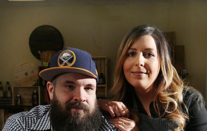 RJ Marvin and Lindsey Marvin are expanding Barrel + Brine. (Sharon Cantillon/Buffalo News)