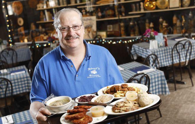 Jerry Scharf, owner of Scharf's German Restaurant and Bar. (Derek Gee/Buffalo News)