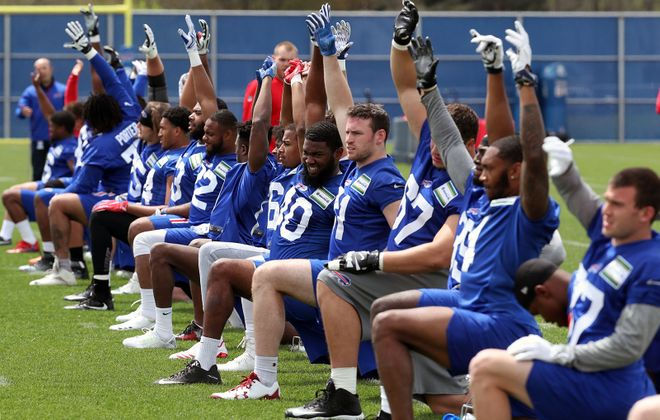 The Buffalo Bills are off until the start of training camp July 26 at St. John Fisher College in Pittsford. (James P. McCoy/News file photo)