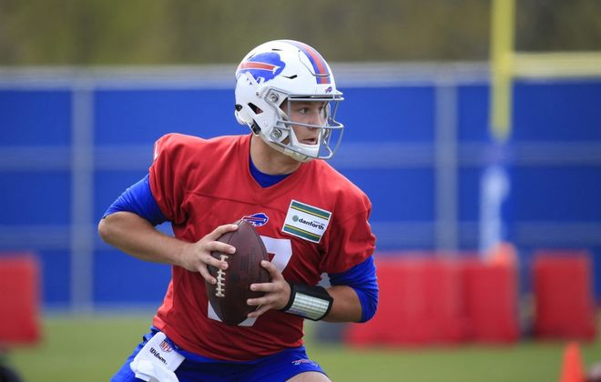 Buffalo Bills rookie quarterback Josh Allen participates in his first minicamp on Friday May 11, 2018. (Harry Scull Jr./Buffalo News)