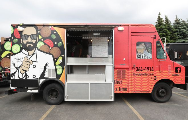 New food trucks for the 2019 season of Food Truck Tuesdays include The Falafel Bar. (Sharon Cantillon/Buffalo News file photo)
