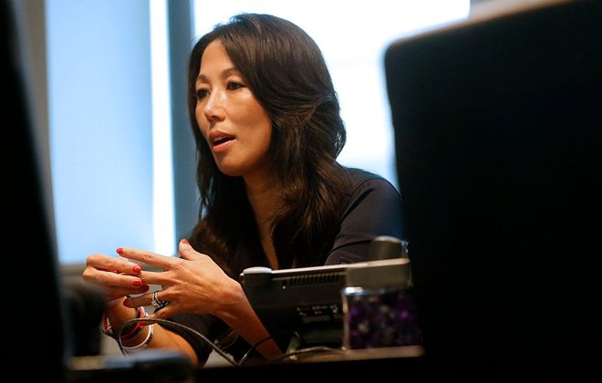 """It wasn't a big hardship for me to jump from owner,"" Kim Pegula told The News of her new role with the Bills and the Sabres. (Robert Kirkham/News file photo)"