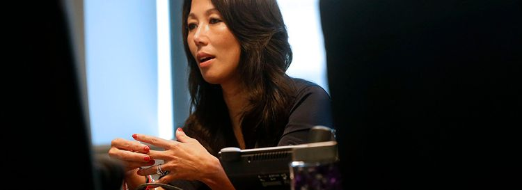 """""""It wasn't a big hardship for me to jump from owner,"""" Kim Pegula told The News of her new role with the Bills and the Sabres. (Robert Kirkham/News file photo)"""