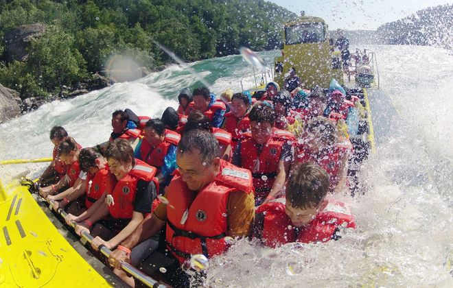 Send dad down class five rapids this year with a Whirlpool Jet Boat Tour.