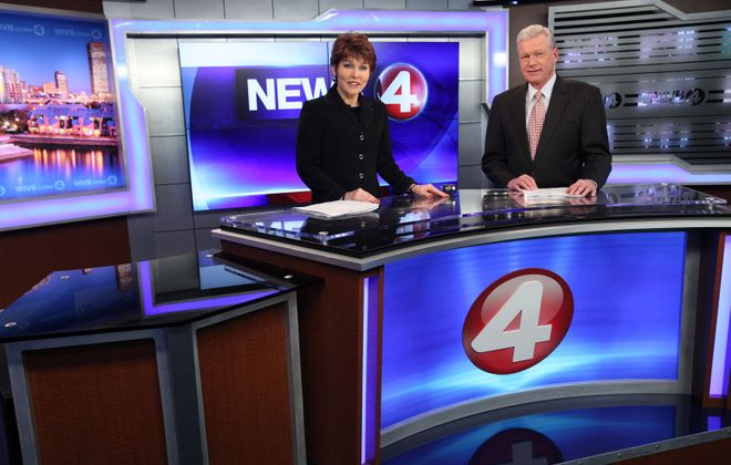 It was a strong month for Channel 4 during the May sweeps. Veteran anchors Jacquie Walker and Don Postles are pictured on set in 2012. (Sharon Cantillon/News file photo)