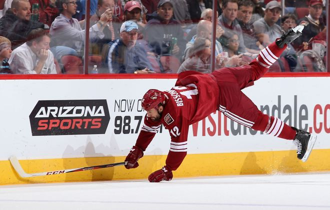 Paul Bissonnette had seven goals in 202 games for the Penguins and Coyotes. (Getty Images)