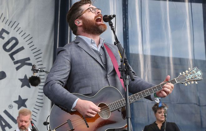 Colin Meloy of The Decemberists, pictured performing in Rhode Island, will play Artpark on Saturday. (Taylor Hill/Getty Images)